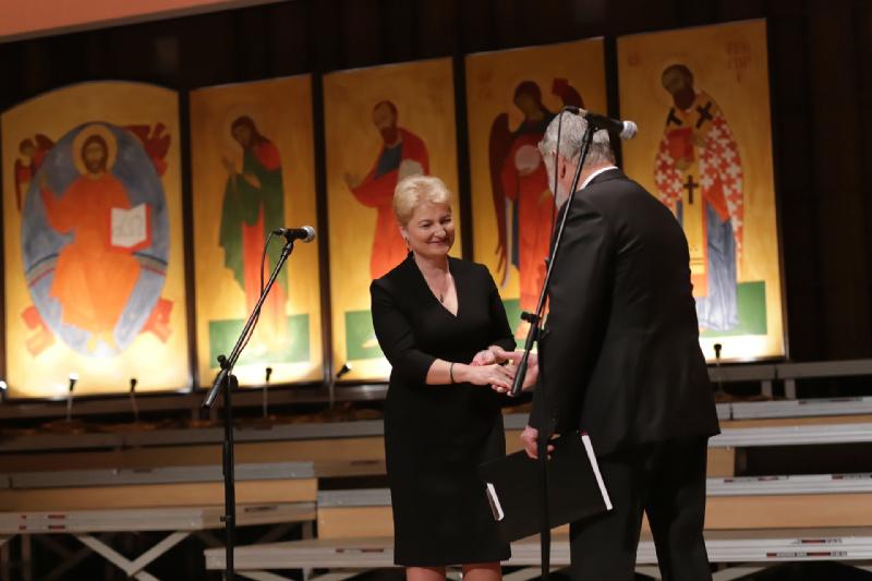 Renata Przygodzka Wiceprezydent Miasta Białegostoku oraz Mikołaj Buszko Dyrektor Festiwalu