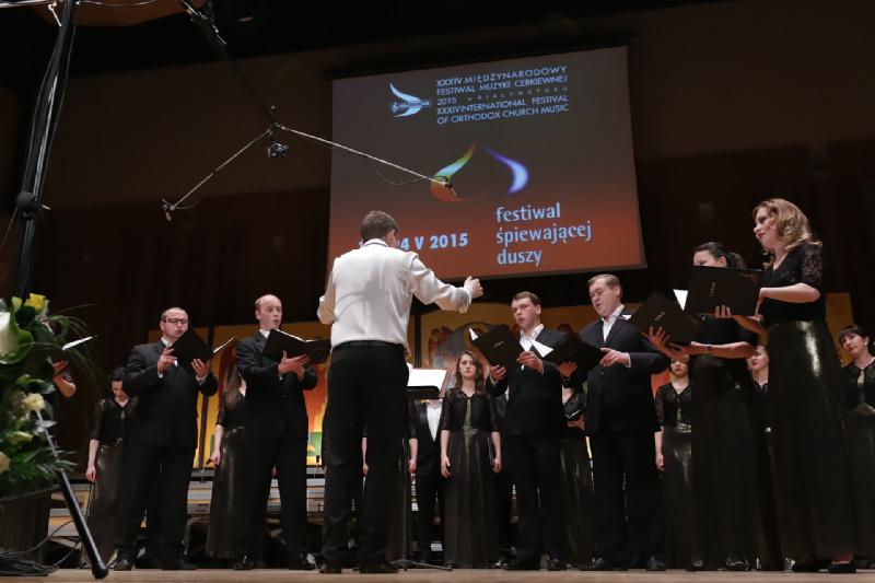 """Kijowski Kameralny Chór """"Sofia"""" – koncert w Operze i Filharmonii Podlaskiej 19 maja 2015 r."""