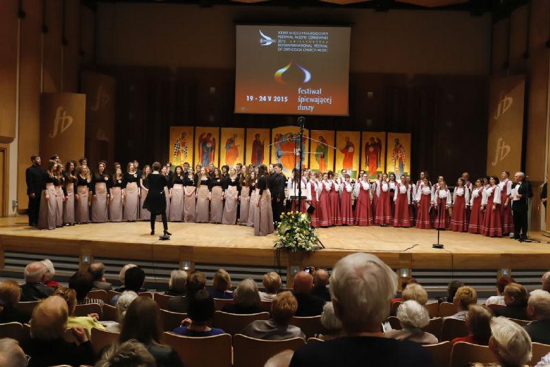 """Collegium Juvenum"" i Chór Muzyczno-Chóralnego Centrum ""Lel"" na scenie"