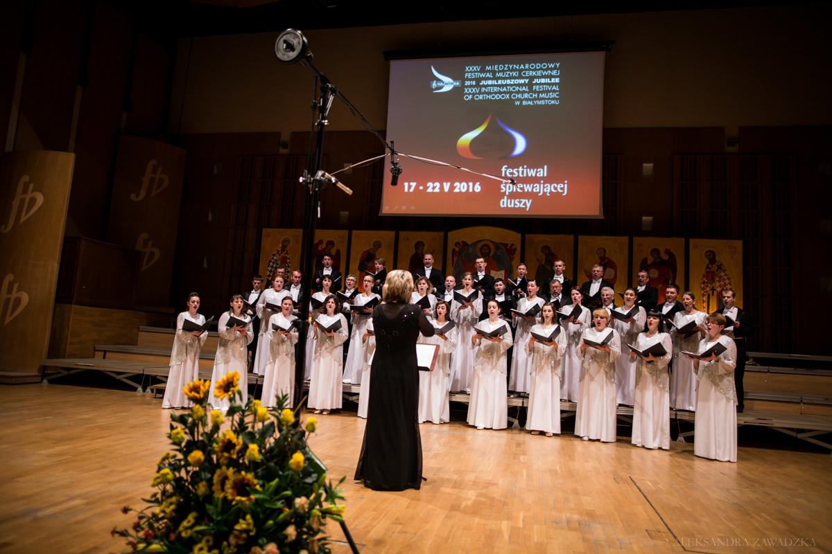 Chór Narodowego Radia Ukrainy w Kijowie podczas Koncertu Inauguracyjnego